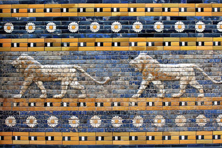 Mesopotamian lions at the Ishtar gate