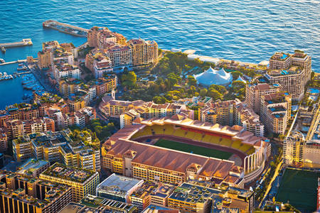 Top view of the stadium in Monaco