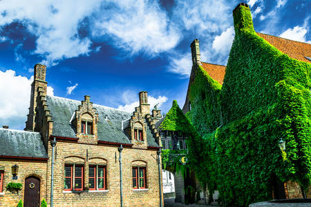 Architecture of houses in Bruges