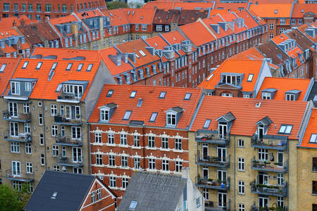The roofs of the houses of Aarhus