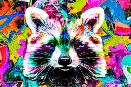 Raccoon graffiti