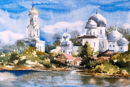 Tempel am Flussufer