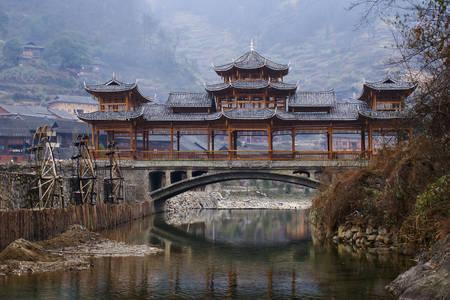 Chinese Village Bridge
