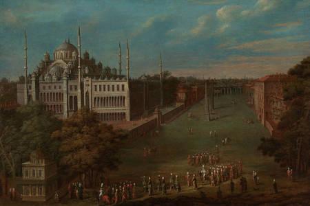 Jean Baptiste Van Moore: Wielki wezyr przekraczający Atmeydanı