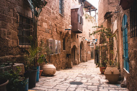 The streets of the old city of Jaffa