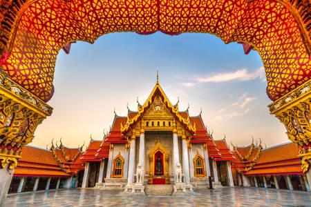 Bangkok márvány templom