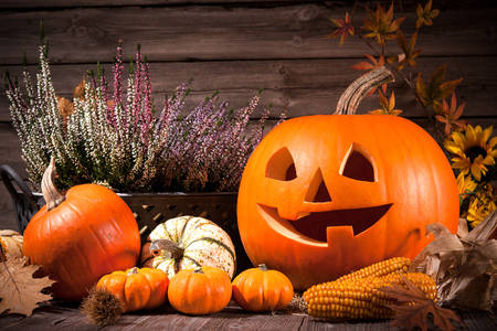 Glimlachende Halloween-pompoen