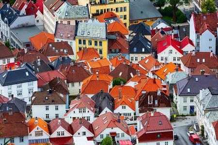 Rooftops in Bergen