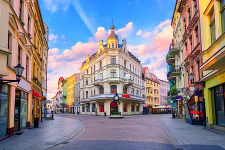 Calle peatonal central en Torun