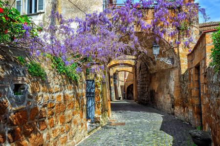 Orvieto'nun eski şehrinin sokakları