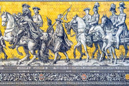 "Betegeld paneel ""Procession of Princes"""