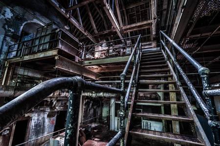 Terk edilmiş bir Marlborough akıl hastanesinin bodrum katı