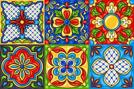 Mexické dlaždice vzory