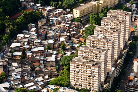 Vista das favelas do Rio de Janeiro