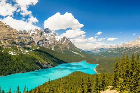 Lago Moraine en el Parque Nacional Banff