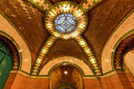 Ceiling of City Hall Metro Station