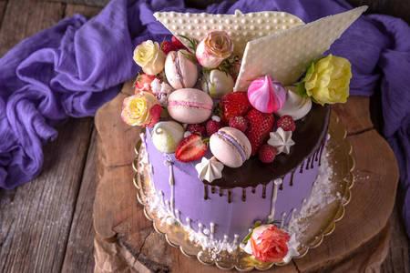 Ciasto z pięknym wystrojem