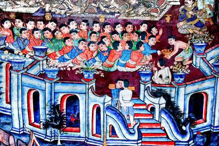Wall murals of Wat Phra Sing