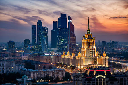 Vista della sera Mosca