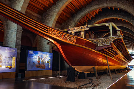 """Gallera """"Real"""" at the Maritime Museum of Barcelona"""
