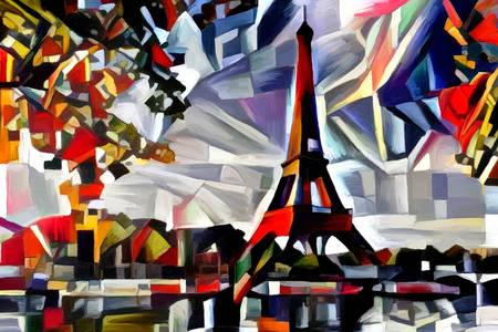 Paris'te Eyfel Kulesi