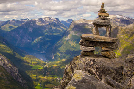 Ορεινό τοπίο της Νορβηγίας