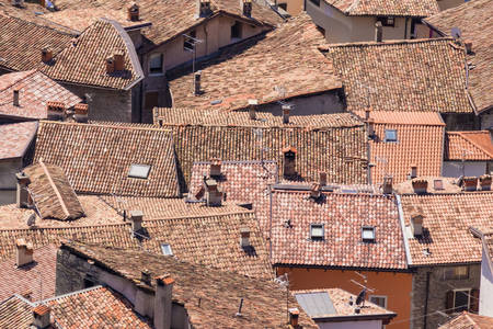 Tiled roofs of the old city