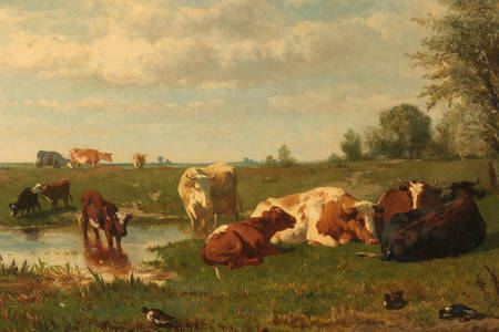 Gerard Bilders: Cows in the Meadow