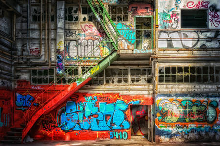 Graffiti in abandoned places