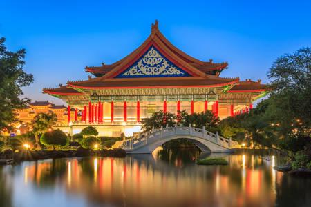 Teatr Narodowy i stawy Guanghua