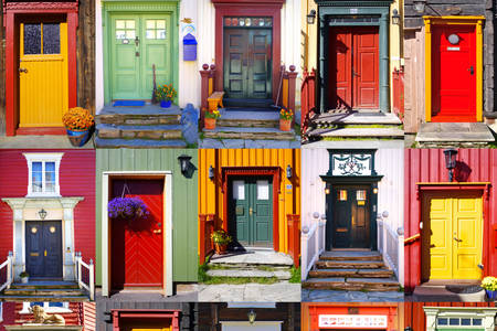 Collage of different doors