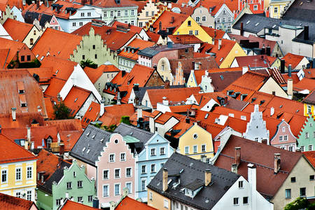 Roofs of Landshut houses