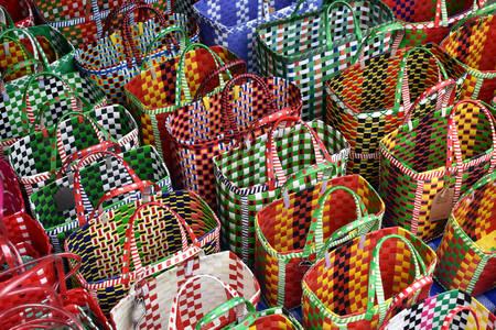 Handmade plastic baskets