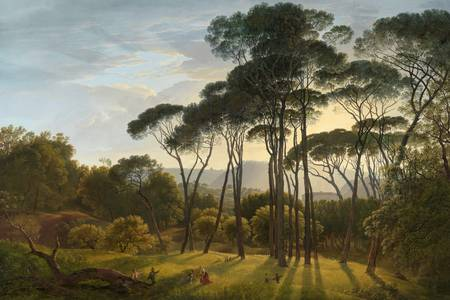 "Hendrick Vogd: ""Italian Landscape with Umbrella Pines"""