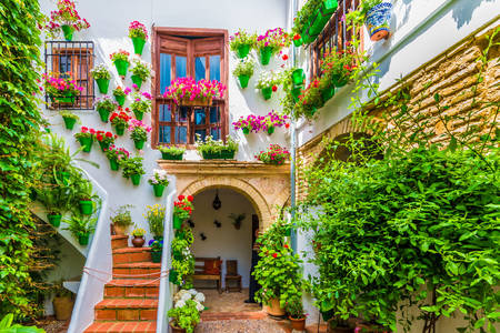 House with flowers in Cordoba
