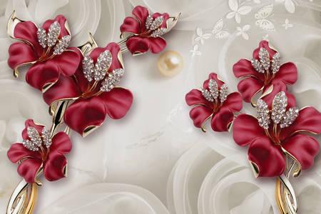 Çiçek şeklindeki takılar