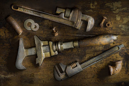 Old pipe wrenches