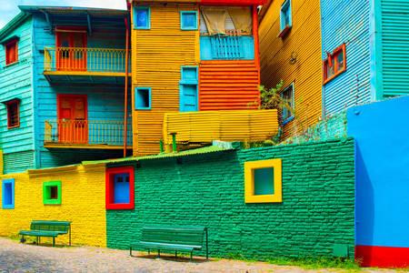 Casele colorate din La Boca