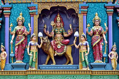 Szobrok egy hindu templomban