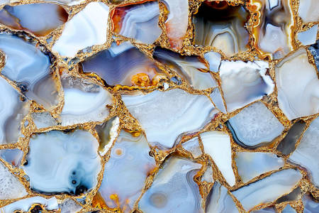 Multi-colored layers of agate