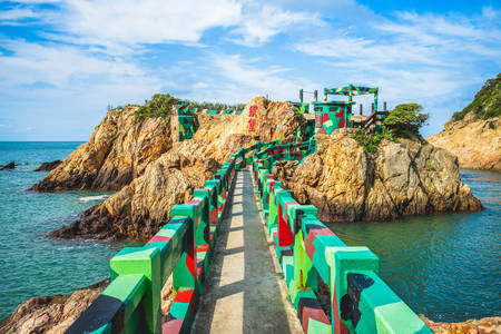 Fort de fer sur les îles Matsu