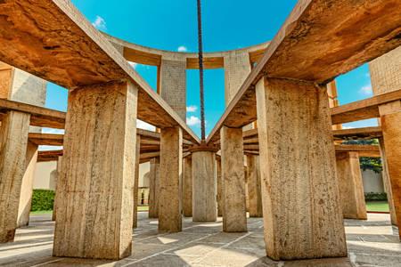 Construction at the Jantar Mantar observatory
