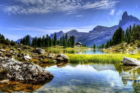 Озера у Доломитовых гор