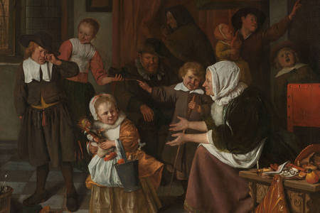 "Jan Steen: ""Sinterklaas-dag"""