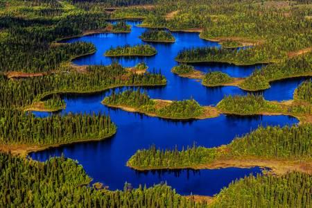 Jedinečně tvarované jezero