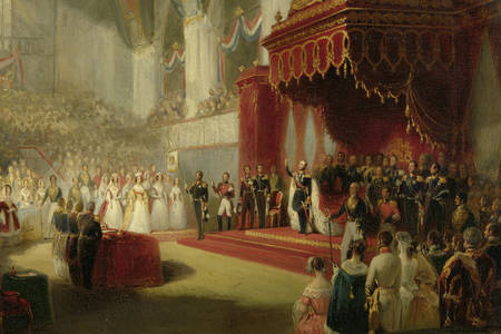 "Nicolaas Pieneman: ""The Inauguration of King William II in the Nieuwe Kerk in Amsterdam on 28 November 1840"""