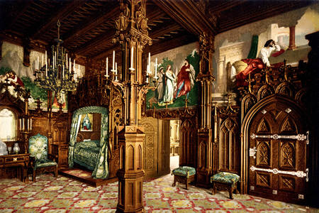 Gothic bedroom of Neuschwanstein castle