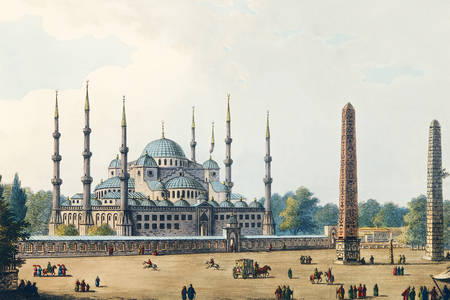 """Luigi Mayer: """"A Mesquita do Sultão Ahmet"""""""