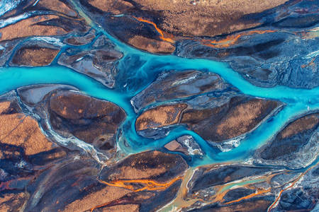 Icelandic rivers - top view