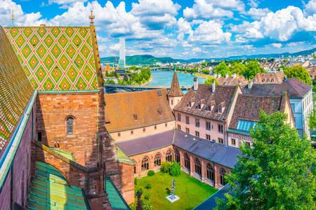 Basel Katedrali çatıları